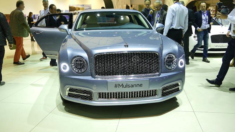 Nowy Bentley Mulsanne fotografia royalty free