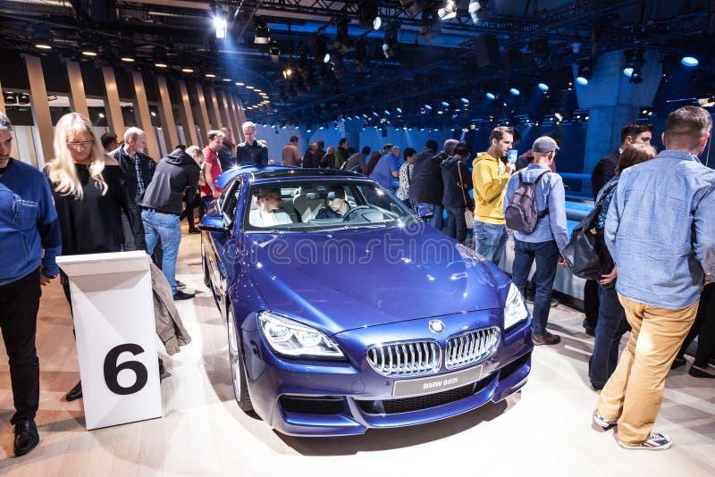 Nowy BMW 650i przy IAA 2015 zdjęcia stock