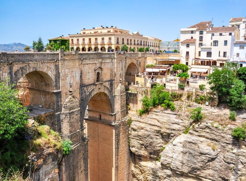 Nowy bridżowy Puente Nuevo w Ronda, Andalusia, Hiszpania zdjęcia royalty free