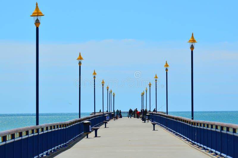 Nowy Brighton molo Christchurch, Nowa Zelandia - zdjęcia stock