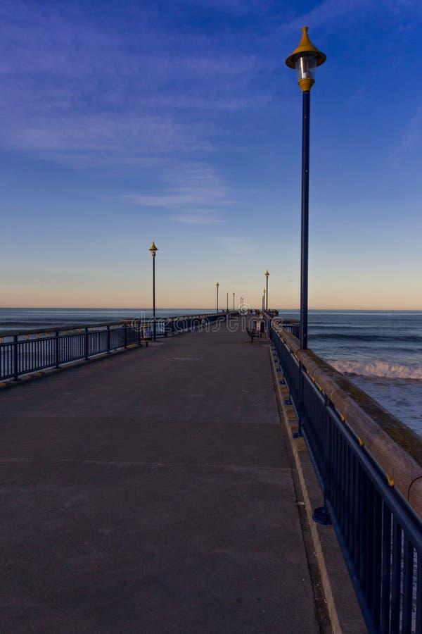 Nowy Brighton molo Nowa Zelandia zdjęcia royalty free