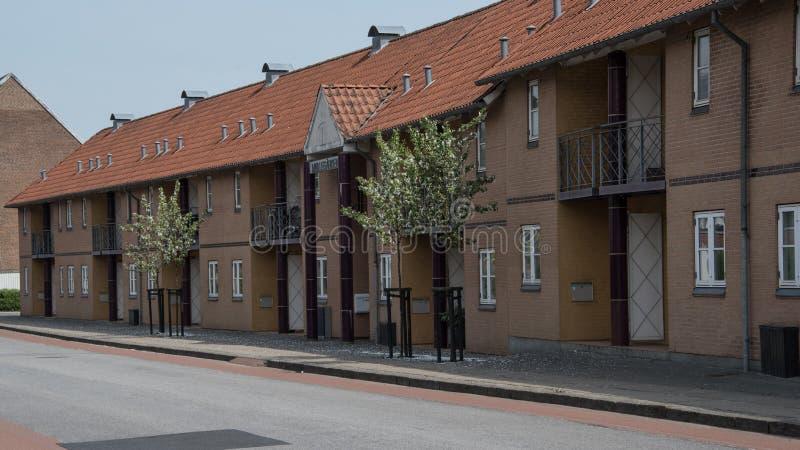 Nowy budynek przy Norregade w Odder zdjęcia stock