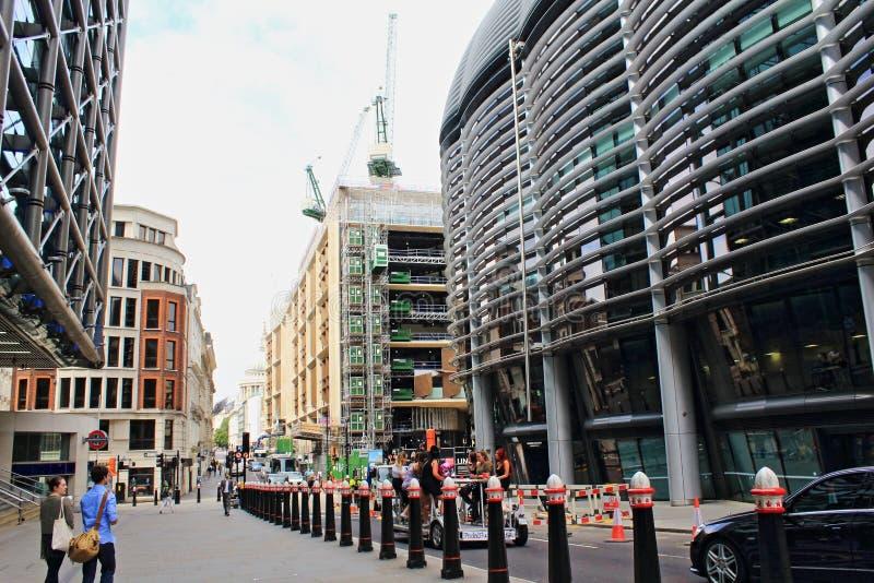 Nowy budynku działa St miasto Londyński Anglia zdjęcia royalty free