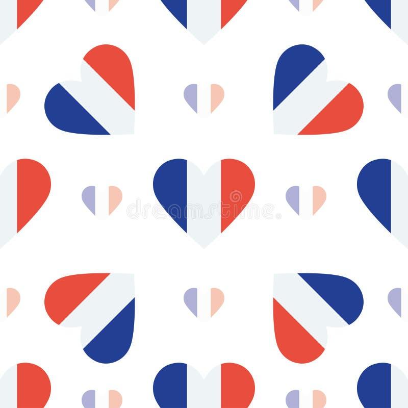 Nowy Caledonia chorągwiany patriotyczny bezszwowy wzór ilustracji