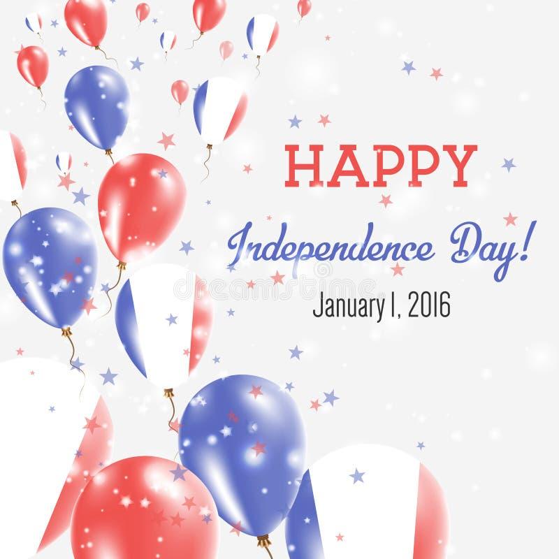 Nowy Caledonia dnia niepodległości kartka z pozdrowieniami ilustracja wektor