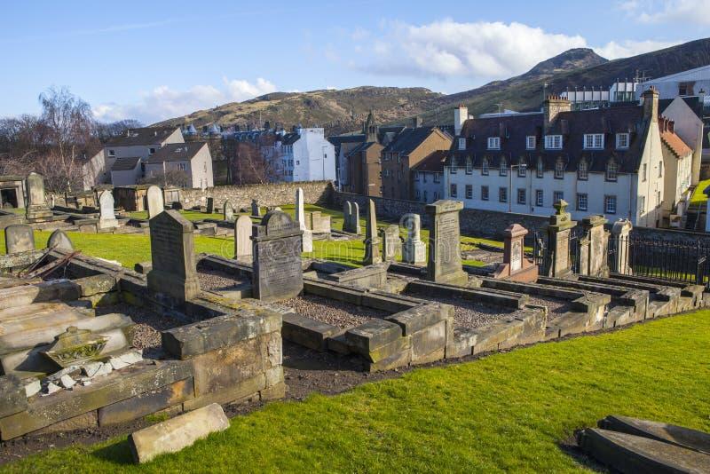 Nowy Calton miejsce pochówku w Edynburg obrazy royalty free