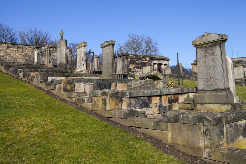 Nowy Calton miejsce pochówku w Edynburg fotografia royalty free
