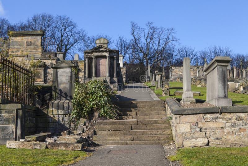 Nowy Calton miejsce pochówku w Edynburg zdjęcia royalty free