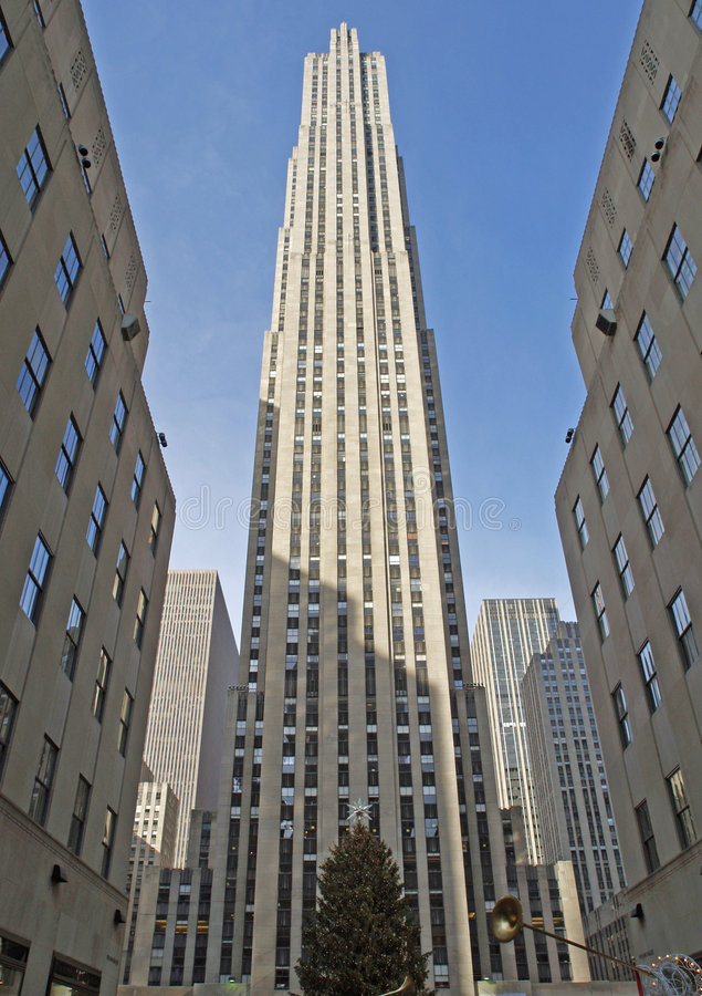 nowy centre plac Rockefeller York zdjęcia royalty free