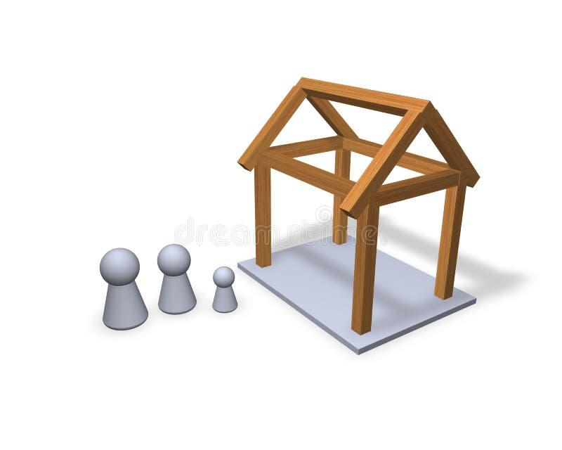 nowy dom royalty ilustracja