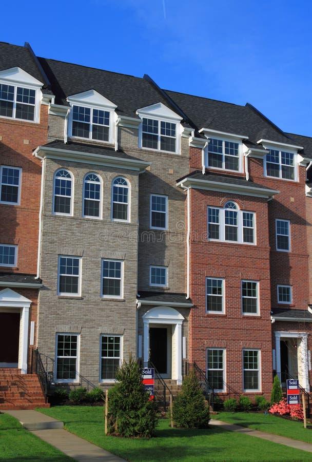 nowy dom miejski zdjęcie stock