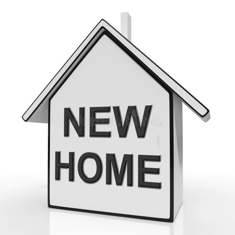 Nowy domu dom Znaczy kupienie Lub Nabywać royalty ilustracja