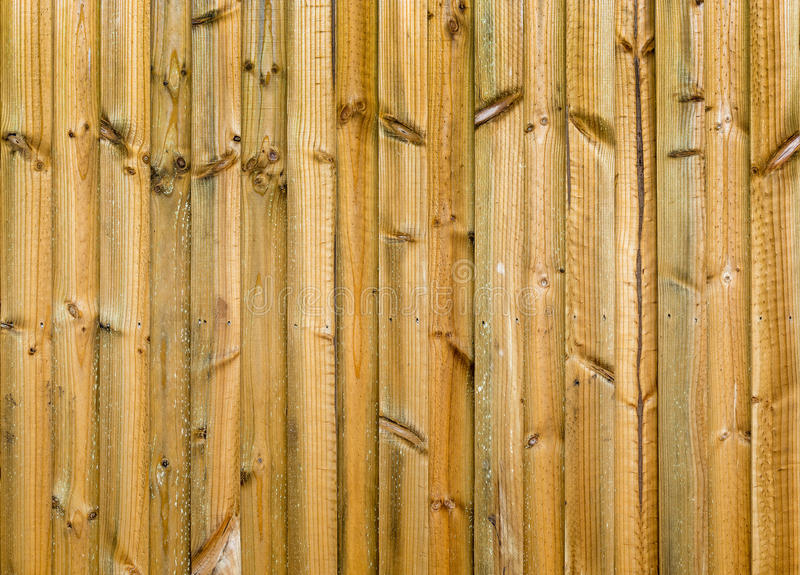 Nowy drewna ogrodzenie obraz stock