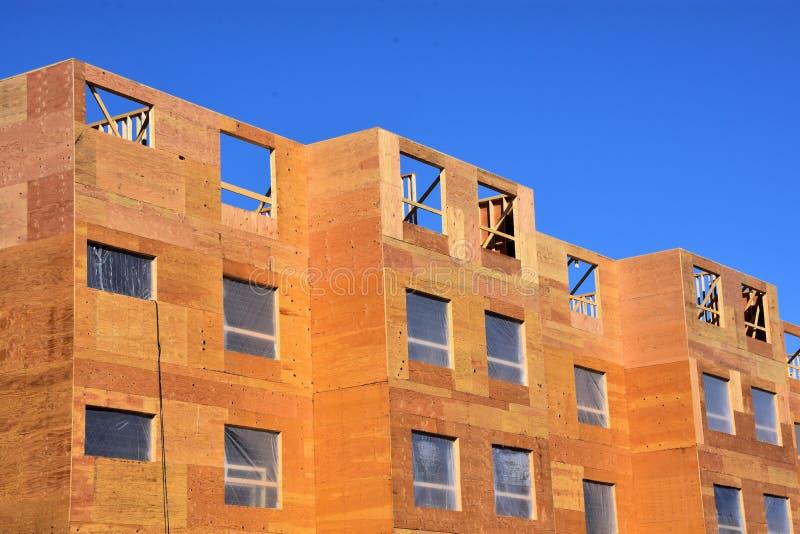 Nowy drewno ramy mieszkania com; lex obraz stock