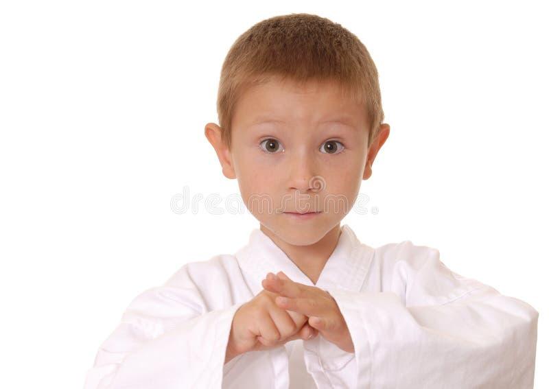 nowy dzieciak cztery karate. zdjęcia stock
