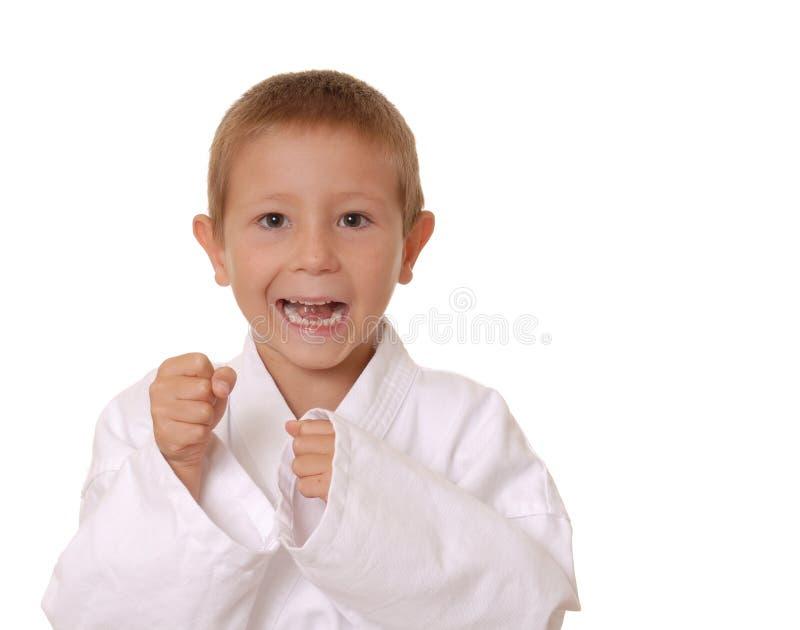 nowy dzieciak karate. obraz royalty free