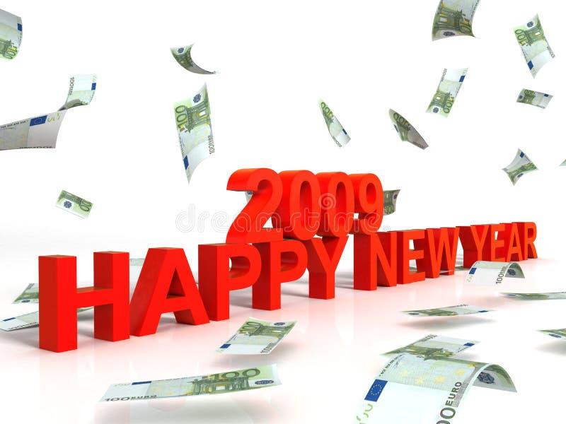 nowy dziewięć tysięcy dwa życzeń rok ilustracji