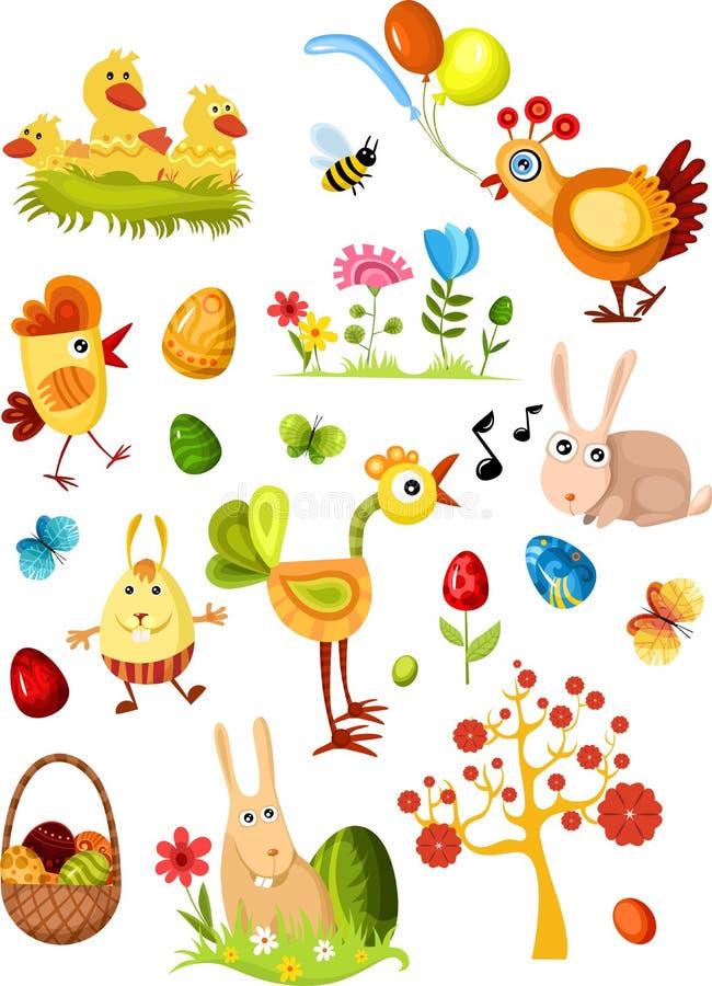 nowy Easter duży set royalty ilustracja