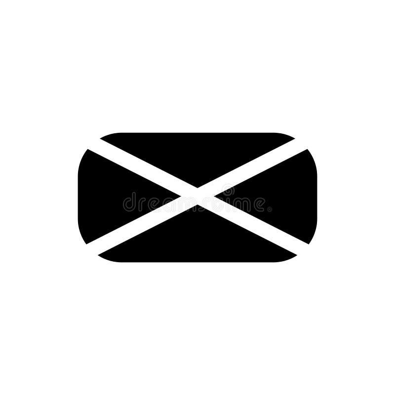 Nowy email wypełniający ikona wektoru znak, kopertowy symbol odizolowywający na białym tle i, Nowy email wypełnialiśmy kopertoweg royalty ilustracja