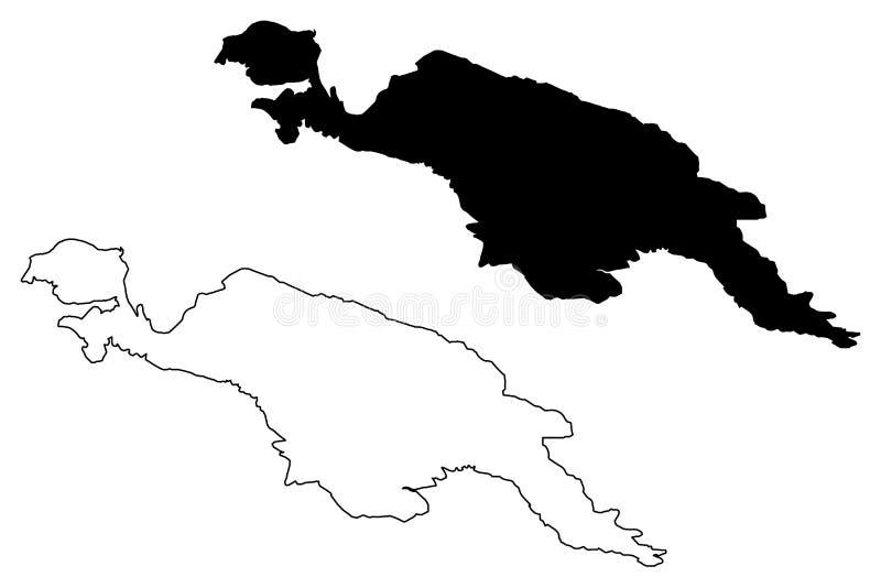 Nowy gwinei mapy wektor ilustracji