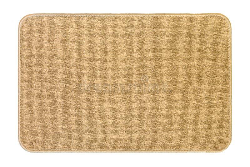 Nowy i czysty podłogowy dywanik, słomianka w beżowym kolorze odizolowywającym na whit zdjęcia royalty free