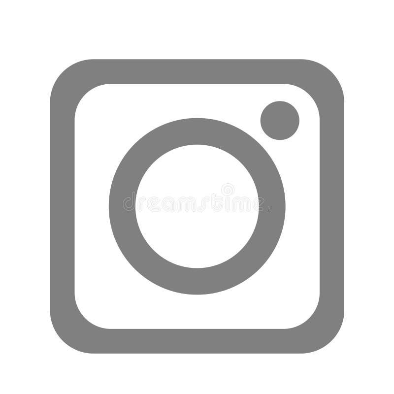 Nowy Instagram kamery logo ikony czerni wektor z nowo?ytnymi gradientowymi projekt ilustracjami na bia?ym tle ilustracja wektor