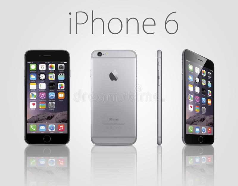Nowy iphone 6 plus ilustracja wektor