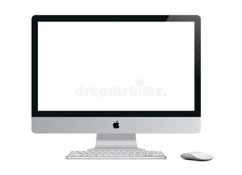 Nowy Jabłczany iMac ilustracja wektor