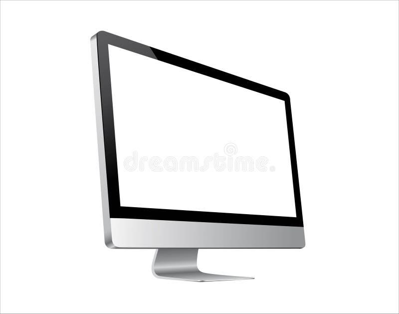 Nowy Jabłczany iMac komputer z siatkówka pokazem ilustracja wektor