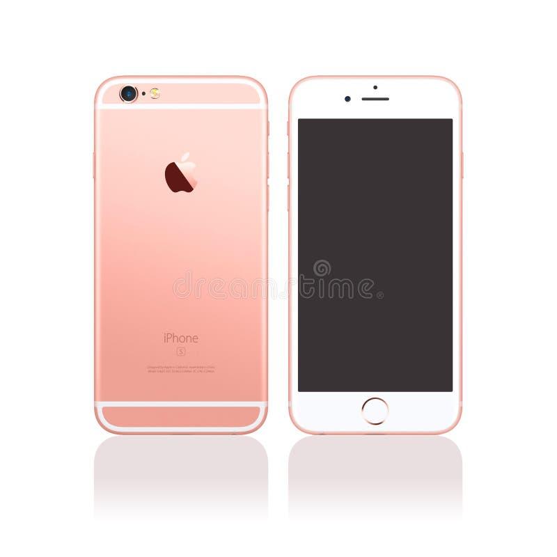 Nowy Jabłczany Iphone 6s ilustracji