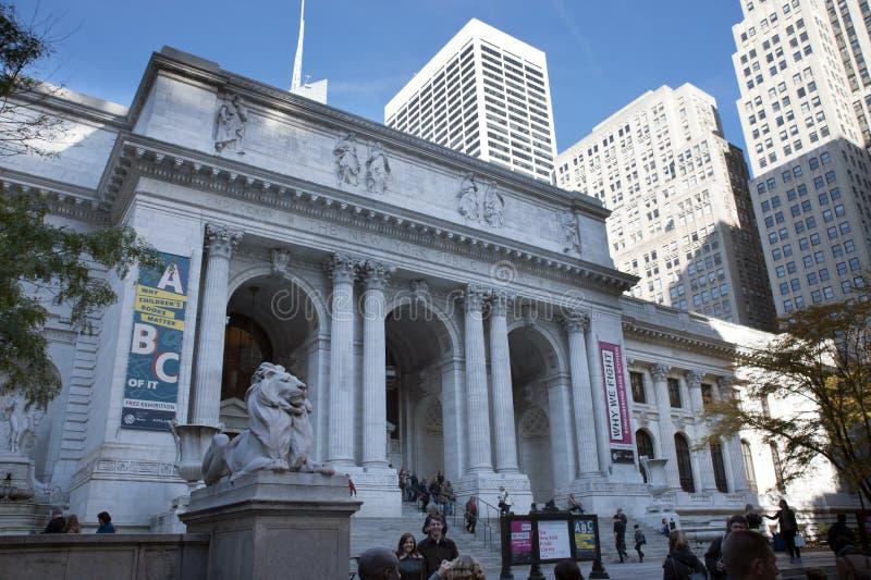 Nowy Jork biblioteka publiczna obraz royalty free