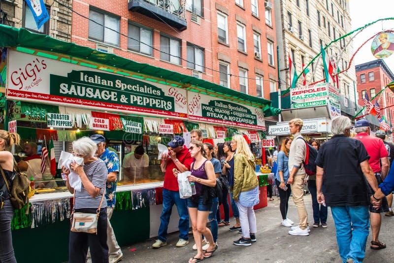 Nowy Jork Cit uczta San Gennaro zdjęcia stock
