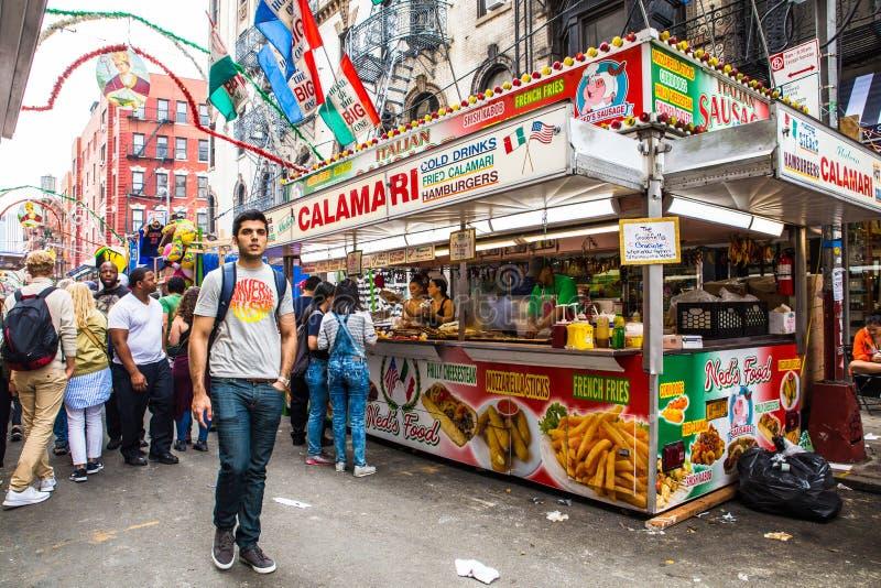 Nowy Jork Cit uczta San Gennaro obrazy stock