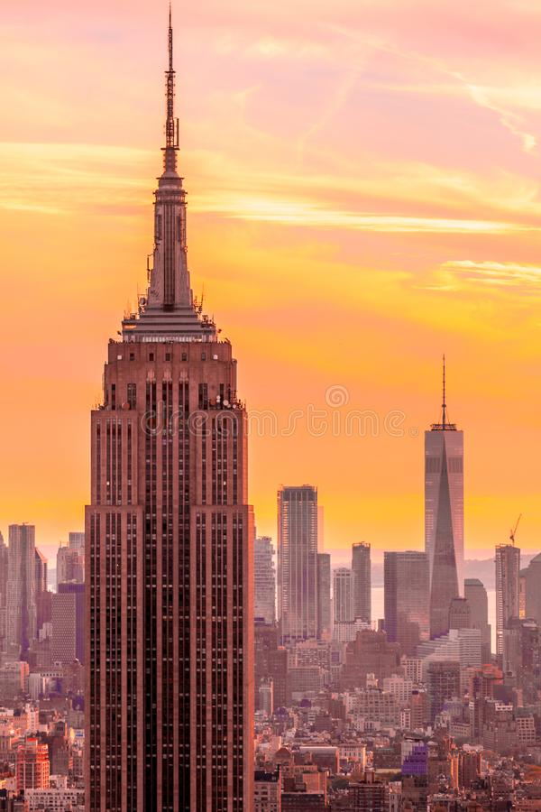 Nowy Jork, empire state building obraz stock