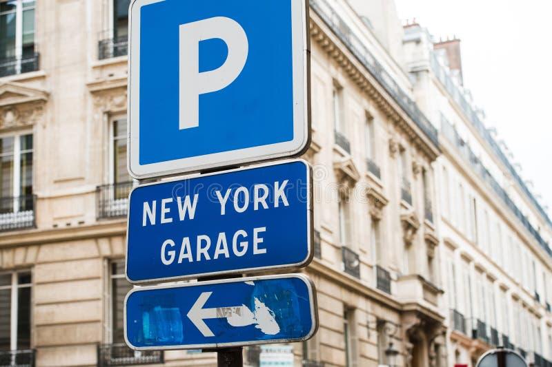 Nowy Jork garaż zdjęcie royalty free