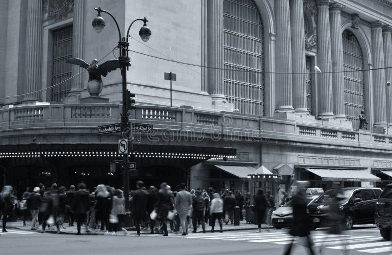 Nowy Jork Grand Central Śmiertelnie stacji 42nd Uliczni Ruchliwie ludzie Tłoczyli się miasto obraz royalty free