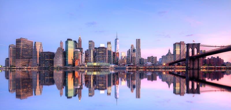 Nowy Jork i Wschodnia rzeka obrazy royalty free