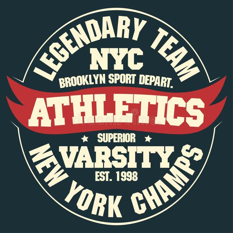 Nowy Jork koszulki grafika ilustracja wektor
