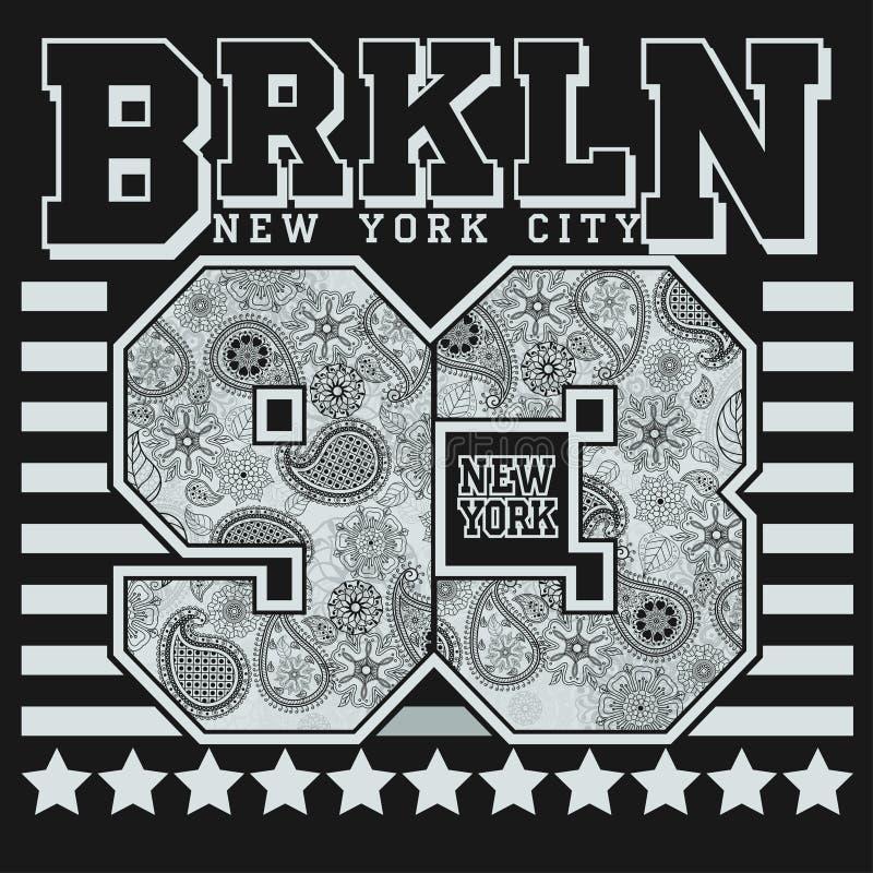Nowy Jork koszulki mody typografia ilustracji