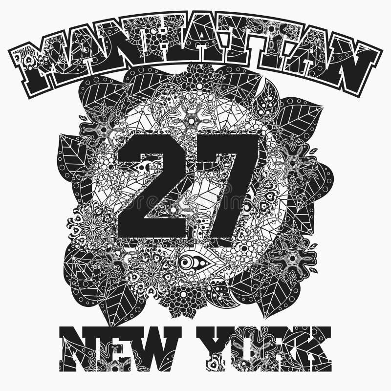 Nowy Jork koszulki mody typografia ilustracja wektor