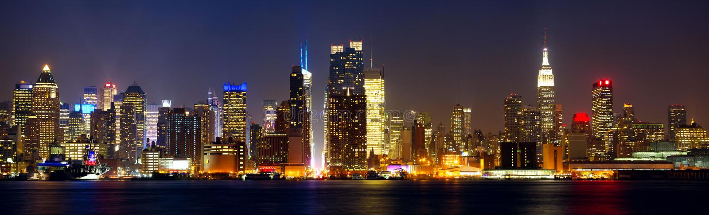 Nowy Jork linia horyzontu fotografia stock