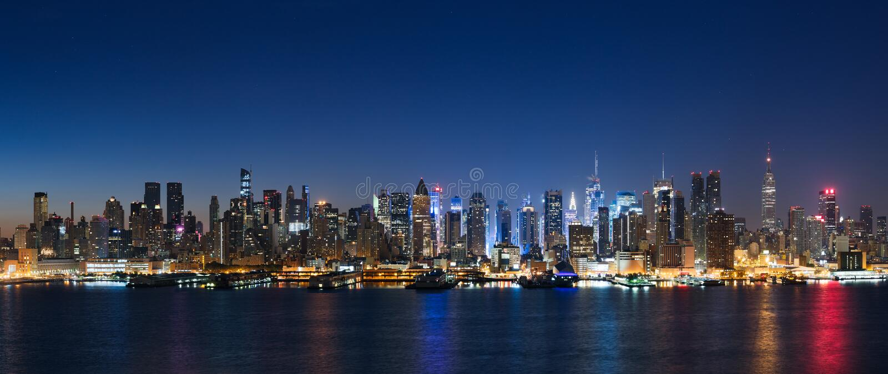 Nowy Jork linia horyzontu obraz royalty free