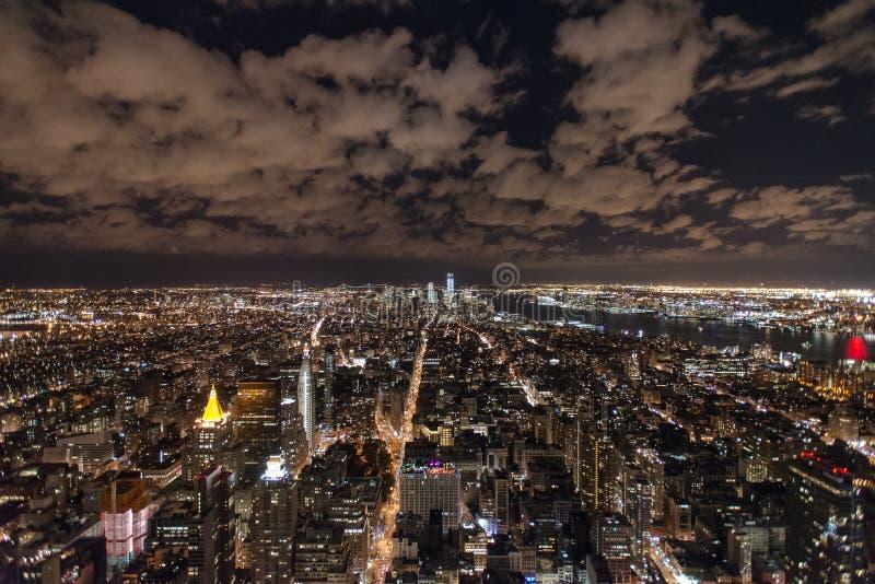 Nowy Jork linia horyzontu od empire state building zdjęcia royalty free