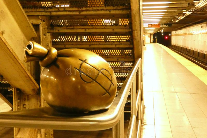 Nowy Jork metra sztuka obraz royalty free