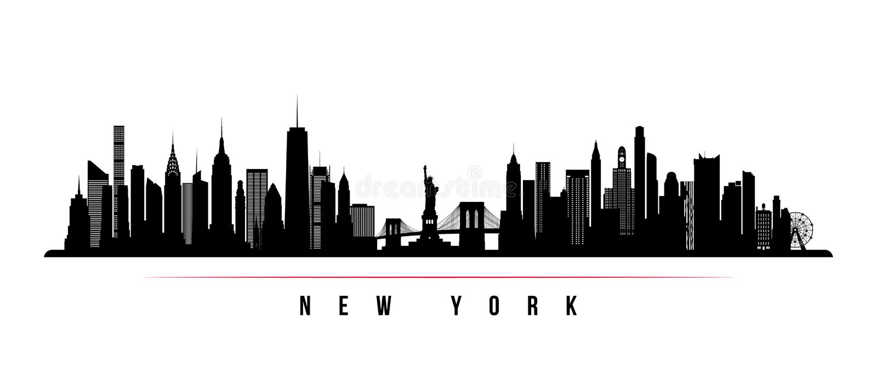 Nowy Jork miasta linia horyzontu horyzontalny sztandar