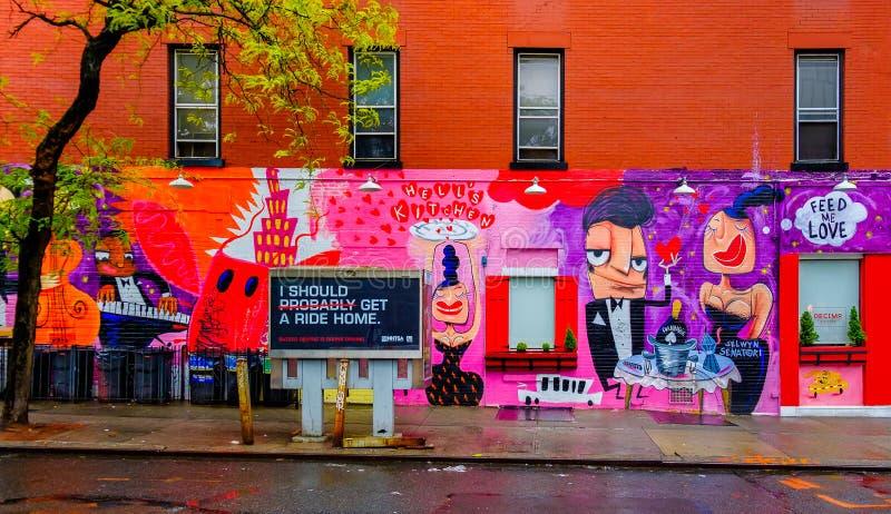 Nowy Jork miasta restauracja fotografia royalty free
