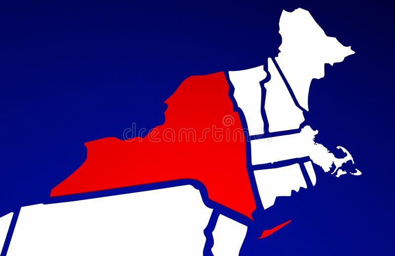 Nowy Jork NY stan Stany Zjednoczone Ameryka stanu mapa ilustracji