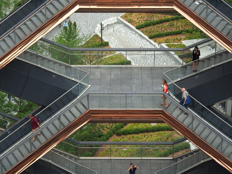 Nowy Jork, NY, usa Widok naczynie blisko do Hudson jardów nowy sąsiedztwo w Manhattan fotografia stock