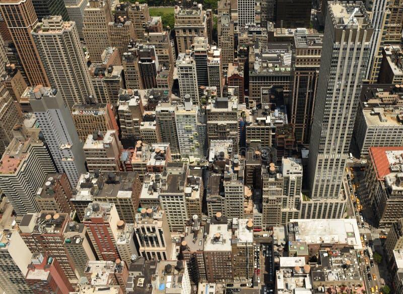 Nowy Jork odgórny widok Miasto Nowy Jork Manhattan widok od nieba obraz royalty free