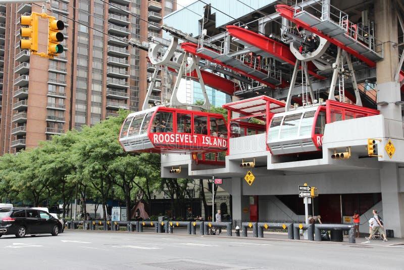 Nowy Jork powietrzny tramwaj zdjęcia stock
